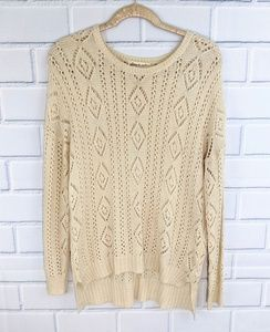 Olive & Oak Cream Open Weave Sweater